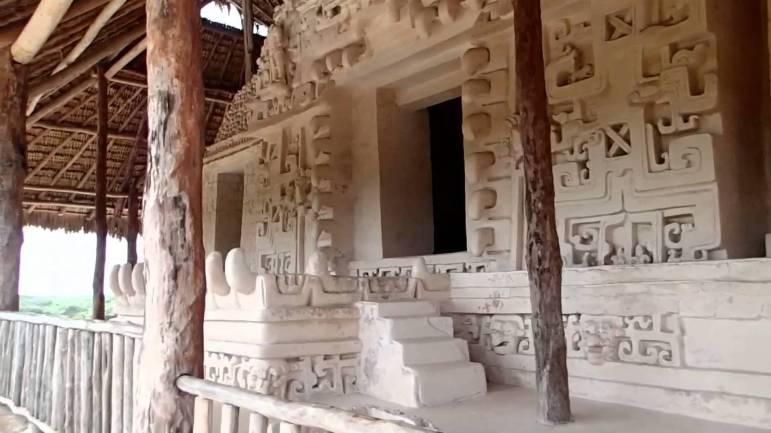 Mayan architecture at Ek Balam, Yucatan.