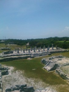 El Rey, mayan site in Cancún. Archaeological site in the Yucatan Peninsula
