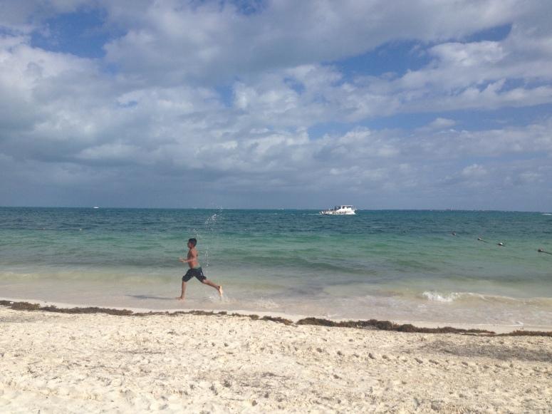 Sun, sand and fun in Cancun, Mexican Caribbean.