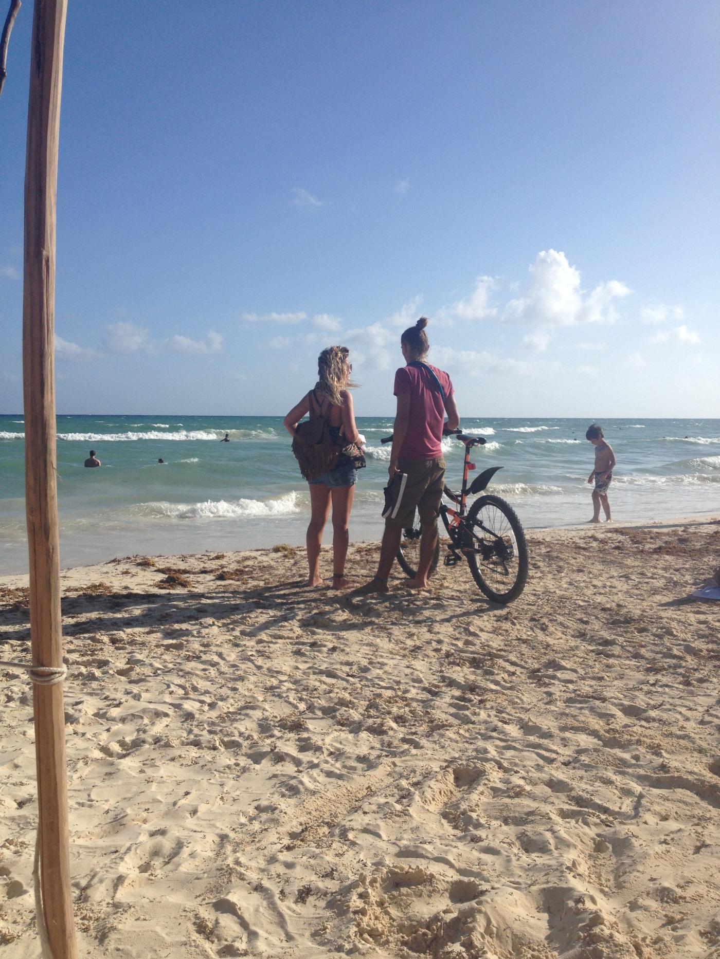 Sunset at Delfines Beach or El Mirador Beach, Hotel Zone, Cancun.